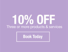 10% off 3+ products and services